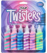 Tulip Twisters Dimensional 6 pk Fabric Paints-Unicorn, , hi-res