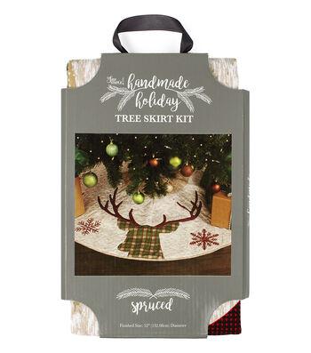 It's Sew Simple Handmade Holiday Christmas Spruced Tree Skirt Kit
