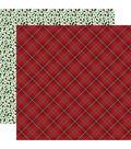 Merry & Bright Double-Sided Cardstock 12\u0022X12\u0022-Holiday Plaid