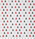 Christmas Cotton Fabric-Red Black Christmas Trees