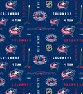 Columbus Blue Jackets Cotton Fabric 43\u0022-All Over