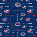 Columbus Blue Jackets Cotton Fabric -All Over