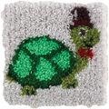 Wonderart Latch Hook Kit 12\u0022X12\u0022-Turtle