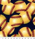 Snuggle Flannel Fabric-Softballs