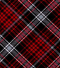 Snuggle Flannel Fabric -Kate Red & Black Plaid