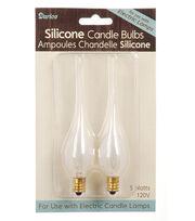 Darice 2 Pk 5W Silicone Candle Bulbs, , hi-res