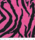 Ultra Fluffy Fleece Fabric 57\u0022-Pink Zebra