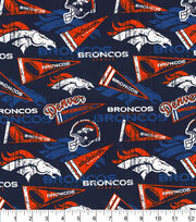 Denver Broncos Cotton Fabric-Retro, , hi-res