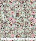 Snuggle Flannel Fabric-Birds & Flowers