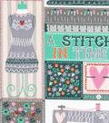 Novelty Cotton Fabric 43\u0022-A Stitch In Time Patch