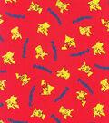 Pokemon Cotton Fabric 44\u0027\u0027-Tossed on Red