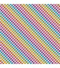 Cricut 12\u0022x12\u0022 Patterned Iron-On Sampler-Hello Kitty Rainbow