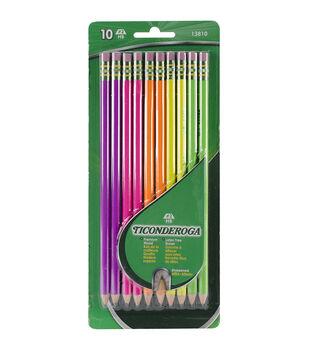 Ticonderoga #2 Pencils 10/Pkg-Assorted Neon
