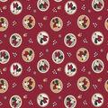 Minnie Mouse Fleece Fabric-Badge Toss