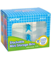 Perler 12 pk Rectangle Stackable Mini Storage Bins, , hi-res