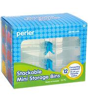 Perler 12 pk Rectangle Stackable Mini Storage Bins, , hi-res