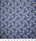 Premium Quilt Cotton Fabric-Diamond Vine Blue