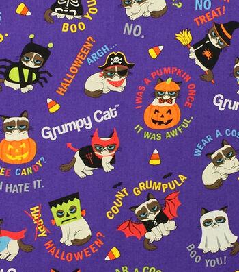 Halloween Cotton Fabric -Grumpy Cat Costumes