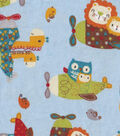 Snuggle Flannel Fabric -Baby Animal Planes