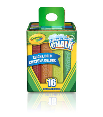 Crayola Sidewalk Chalk 16/Pkg-Assorted Colors