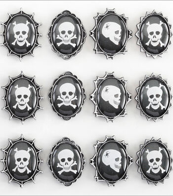 Jolee's Boutique Dimensional Stickers-Skull Cameos