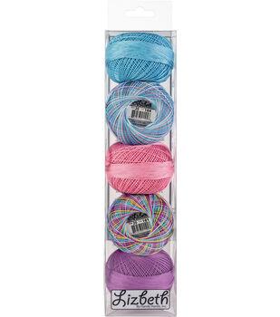 Handy Hands Lizbeth 5 pk Cordonnet Cotton Threads Size 20-Summer