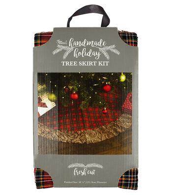It's Sew Simple Handmade Holiday Christmas Fresh Cut Tree Skirt Kit