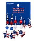 hildie & jo Patriotic Jewelry Flag, Heart & Star Earrings