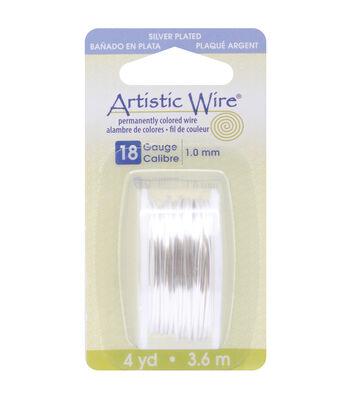 Artistic Wire Dispenser 4 Yards/Pkg-Silver 18 Gauge