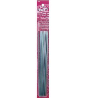 Susan Bates Silvalume Double Point Knitting Needle Sock Set