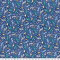 Premium Cotton Fabric-Seahorses with Fish on Blue