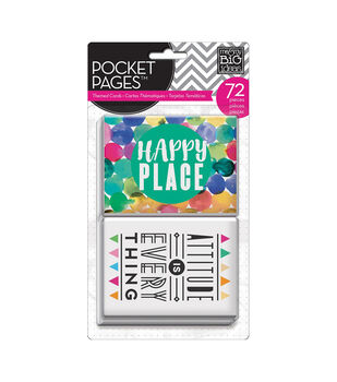 Me & My Big Ideas Pocket Pages Themed Cards 72/Pkg-Abstract Art
