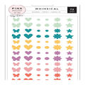 Pink Paislee Paige Evans Whimsical 72 pk Enamel Shapes