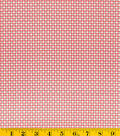 DS Quilt Collection Cotton Fabric-Sweet Ruby Geo Red Fabric-