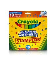 Crayola Ultra-Clean Washable Stamper Markers 10/Pkg, , hi-res