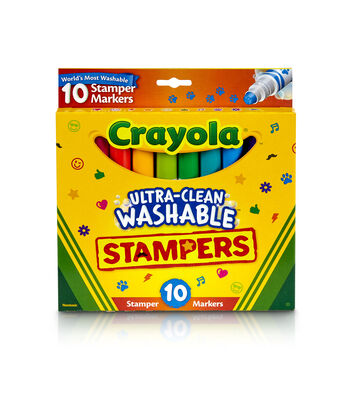 Crayola Ultra-Clean Washable Stamper Markers 10/Pkg