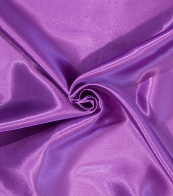 Let's Pretend Satin Fabric-Solid Violet