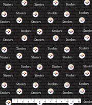 Pittsburgh Steelers Cotton Fabric  Mini Print, , hi-res