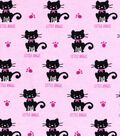 Snuggle Flannel Fabric -Little Angel Cat