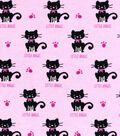 Snuggle Flannel Fabric 42\u0022-Little Angel Cat