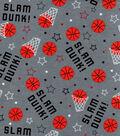 Snuggle Flannel Fabric-Slam Dunk! & Basketballs