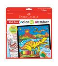 Color By Number Foil Fun Kit 9\u0022X9\u0022-T-Rex