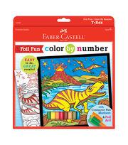 """Color By Number Foil Fun Kit 9""""X9""""-T-Rex, , hi-res"""
