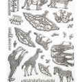 Creative Expressions A6 Clear Stamp Set-African Animals