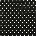 Stretch Chiffon Silky Fabric-Black & White Polka Dot