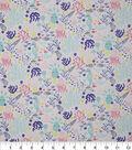 Novelty Cotton Fabric-Sealife Pastel