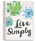 Hello Spring Wall Decor-Live Simply & Succulent