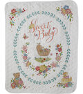 Sweet Baby Crib Cover Stamped Cross Stitch Kit-34\u0022X43\u0022