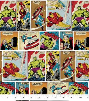 Marvel Cotton Fabric-Comic Strip