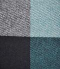 Plaiditudes Brushed Cotton Fabric -Blue Jumbo Squares